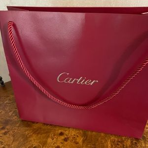 Authentic Cartier paper gift bag